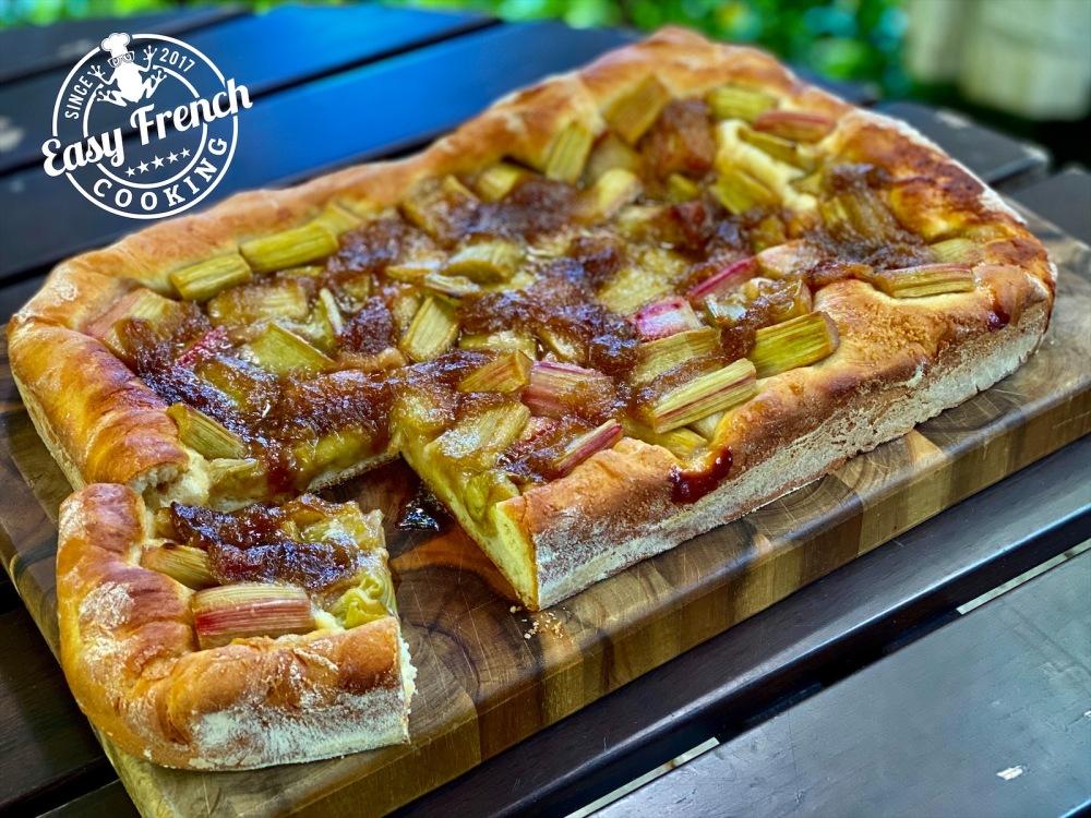 Rhubarb brioche tart - easyfrenchcooking.com