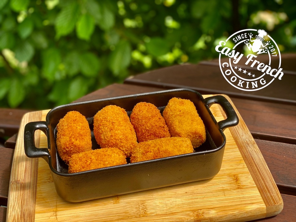 Potatoe croquettes in a dish - easyfrenchcooking.com