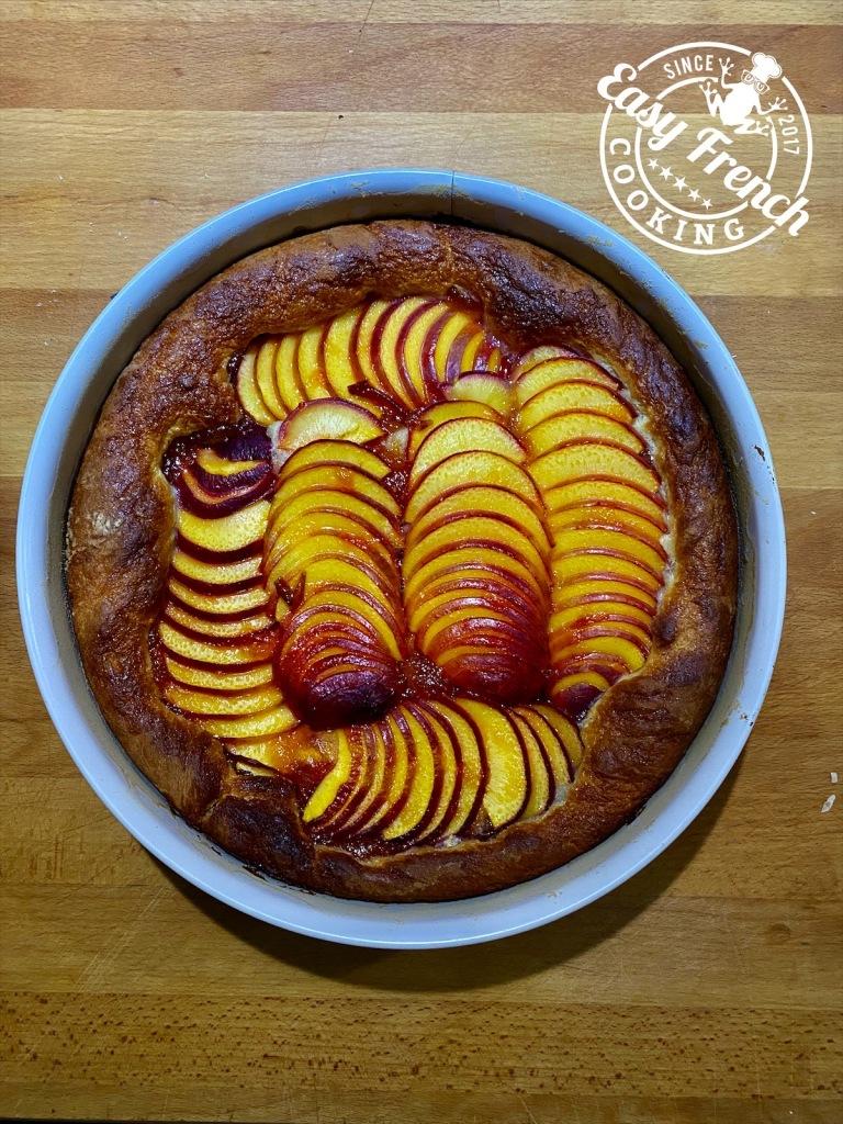 Nectarine tart atter baking - easyfrenchcooking.com