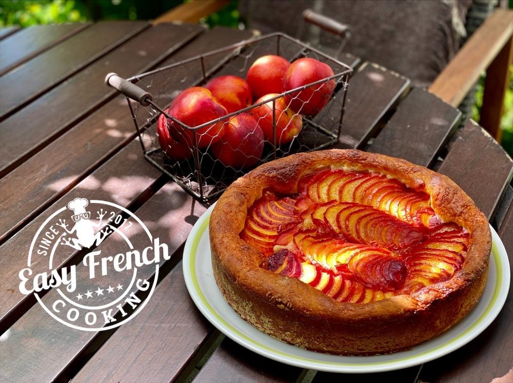 Nectarines brioche tart - easyfrenchcooking.com